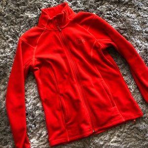 Orange-Red Mountain Hardware Full Zip Fleece